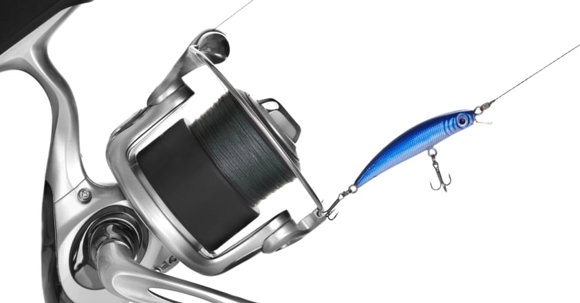 Spinning Reel With Lure